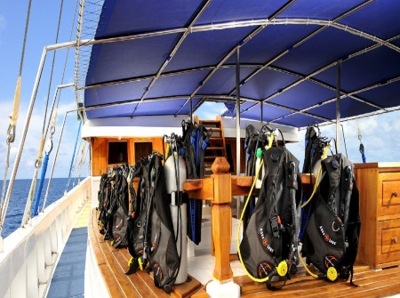 Palau Siren, Dive Kit, Deck