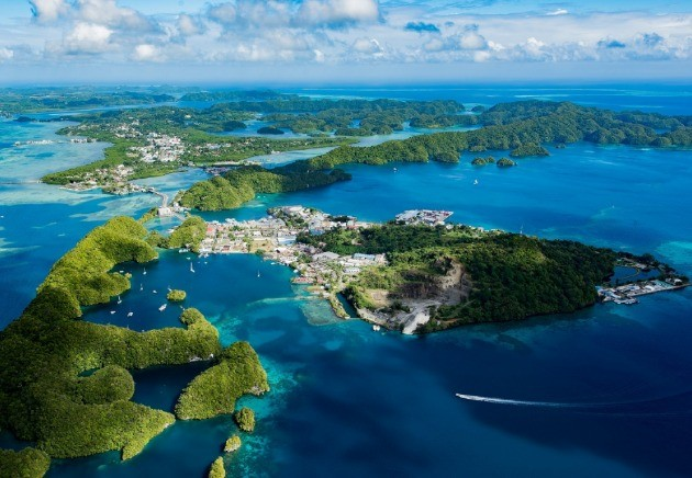 Aerial view of Palau
