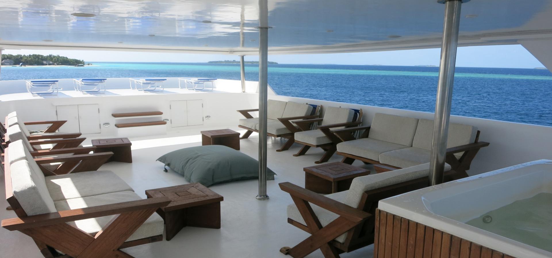 Sky deck, blue Voyager, Maldives